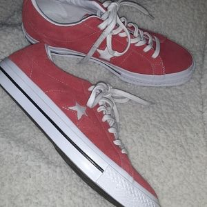 Converse One Star Red Suede Sneakers Unisex